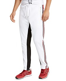 Men's Interlock Double Face Draw String Trouser with Colorblock Interior Leg and Rear
