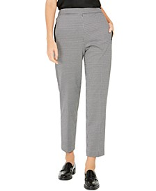 Pull-On Houndstooth Pants