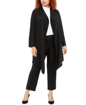 Anne Klein Jackets PLUS SIZE ASYMMETRICAL JACKET