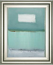 "Azure 1 by Caroline Gold-tone Framed Print Wall Art - 22"" x 26"""