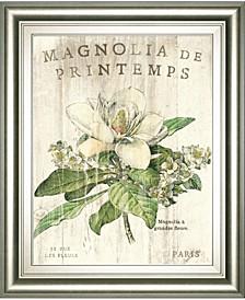 "Magnolia De Printemps by Sue Schlabach Framed Print Wall Art - 22"" x 26"""