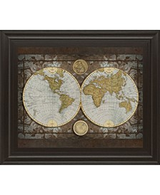"World Map by Elizabeth Medley Framed Print Wall Art - 22"" x 26"""