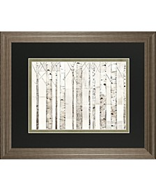 "Birch Trees on White by Avery Tillman Framed Print Wall Art - 34"" x 40"""