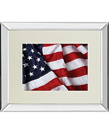 "American Flag by Kikk Brilliantly Mirror Framed Wall Art - 34"" x 40"""