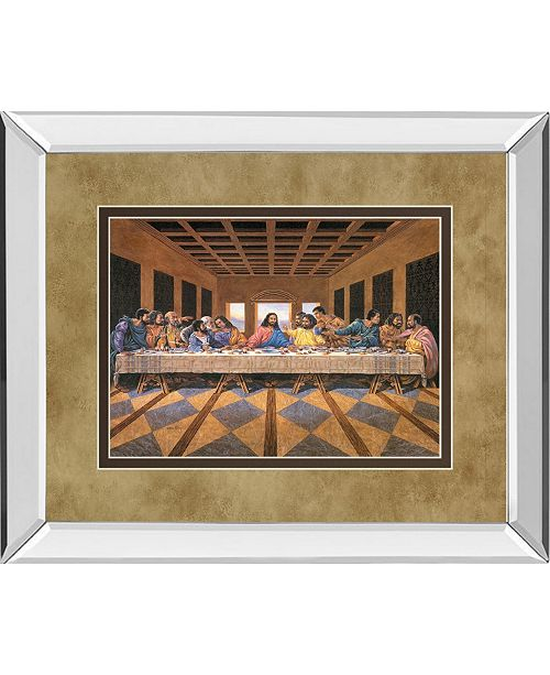 "Classy Art Last Supper African American Mirror Framed Print Wall Art - 34"" x 40"""