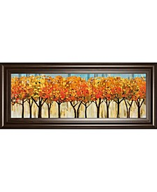 "Avenue by Mark Chandon Framed Print Wall Art - 18"" x 42"""