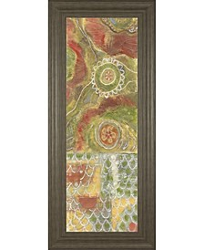 """Moroccan Whimsy Il by Karen Deans Framed Print Wall Art - 18"""" x 42"""""""
