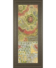 """Moroccan Whimsy I by Karen Deans Framed Print Wall Art - 18"""" x 42"""""""