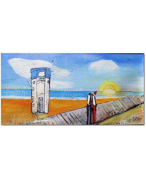 "Courtside Market Lagune Beach Lifeguard Gallery-Wrapped Canvas Wall Art - 36"" x 72"""