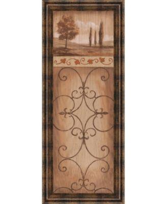 """Iron Landscape Il Framed Print Wall Art - 18"""" x 42"""""""