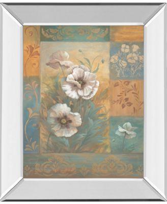 "Pam's Poppies Il by Vivian Flasch Mirror Framed Print Wall Art - 22"" x 26"""