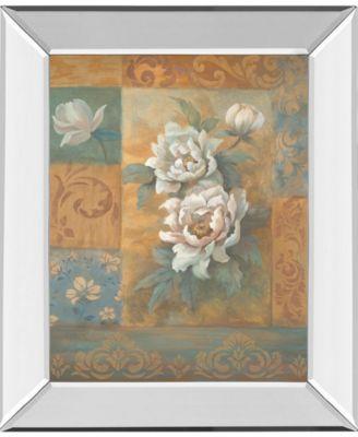 """Pam's Poppies I by Vivian Flasch Mirror Framed Print Wall Art - 22"""" x 26"""""""