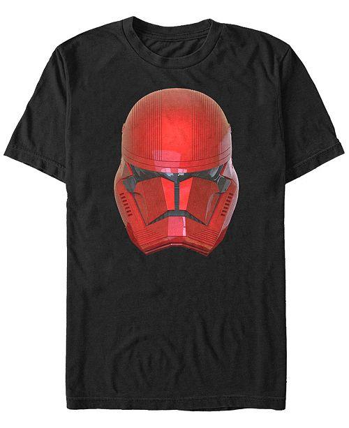 Star Wars Men's Rise Of Skywalker Sith Trooper Big Face Helmet Short Sleeve T-Shirt