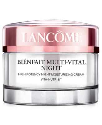 Lancôme Bienfait Mult-Vital Night Moisturizer Cream, 1.7 oz - Skin ...