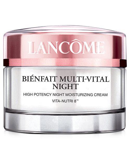 Lancome Bienfait Multi-Vital Night Cream Moisturizer, 1.7 oz