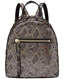 Megan Metallic Leather Backpack