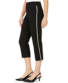 Embellished Side-Stripe Capri Pants, Created For Macy's