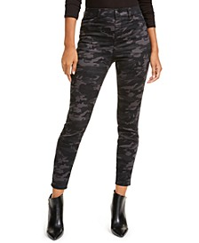 Juniors' Camo Print High-Rise Jeans