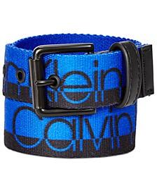 Big Boys Logo Flat-Strap Belt