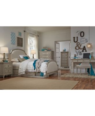 Emma Kids Bedroom Furniture, Full Upholstered Panel Bed with  Trundle