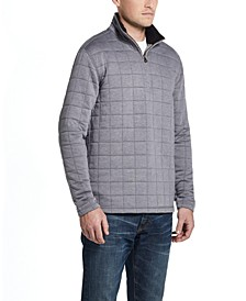 Men's Quilted Quarter-Zip Pullover