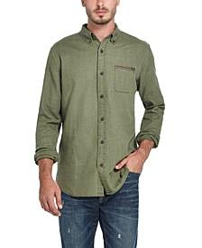 Men's Twill Button-Down Shirt
