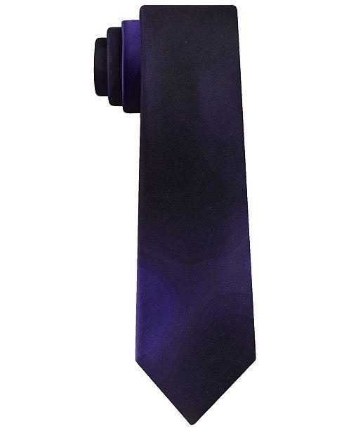 DKNY Men's Slim Abstract Silk Tie