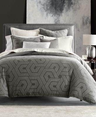 Textured Hexagon Full/Queen Duvet, Created for Macy's
