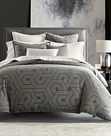 CLOSEOUT! Textured Hexagon Bedding Collection, Created for Macy's