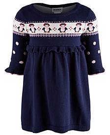 Baby Girls Cotton Penguin Sweater Dress