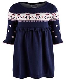 Baby Girls Cotton Penguin Sweater Dress