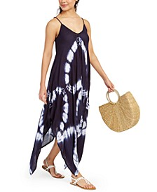 Tie-Dye Handkerchief-Hem Cover-Up Dress