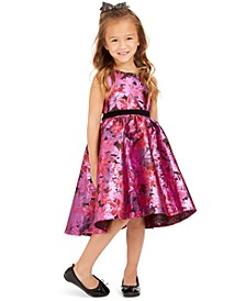 Little Girls High-Low Brocade Dress