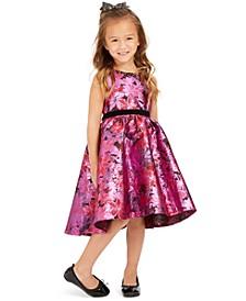Little Girls High-Low Brocade Dress