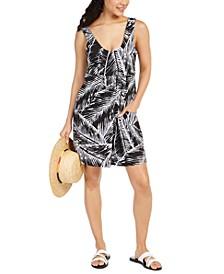 Printed Swim Cover-Up Dress