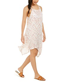 Sleeveless Printed Cover-Up Dress