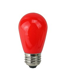 Pack of 25 Opaque LED S14 Red Christmas Replacement Bulbs