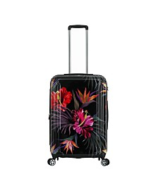 """Triforce Havana 26"""" Spinner Tropical Floral Luggage"""