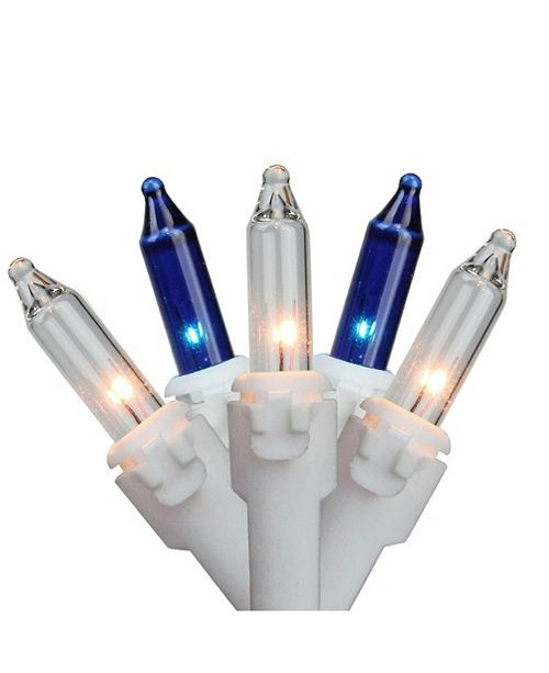 Northlight Set of 100 Mini Icicle incandescent Christmas Lights Spacing