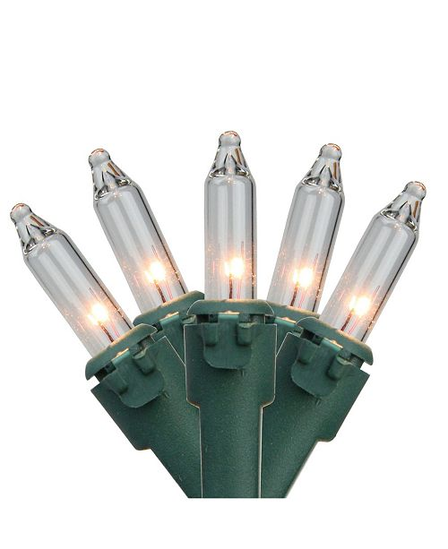 "Northlight Set of 300 Clear Mini Christmas Lights 2.5"" Spacing - Green Wire"