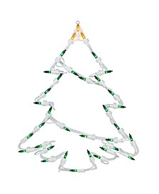 """15"""" Lighted Tree Christmas Double Sided Window Silhouette Decoration"""
