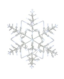 """16"""" LED Lighted Snowflake Christmas Window Silhouette Decoration"""
