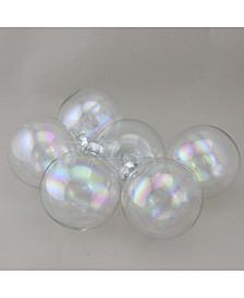 "6-Piece Iridescent Ball Christmas Ornament Set 3.25"" 80mm"