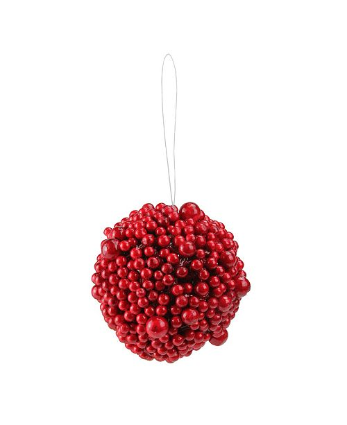 """Northlight 5"""" Artificial Festive Red Berries Christmas Ball Ornament"""