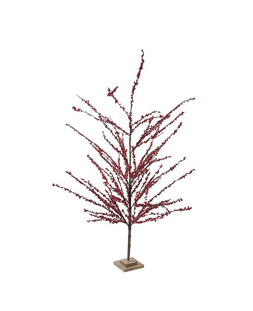 """Northlight 59"""" Festive Artificial Red Berries Decorative Christmas Tree - Unlit"""