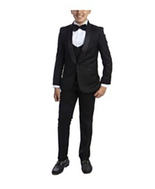 Perry Ellis Big Boy's 5-Piece Slim Fit Shawl Tuxedo Set