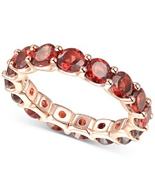 Rhodolite Garnet Eternity Band (2-5/8 ct. t.w.) in 14k Rose Gold-Plated Sterling Silver