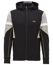 BOSS Men's Saggy 1 Zip-Through Hooded Sweatshirt