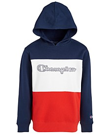 Little Boys Colorblocked Logo-Print Hoodie