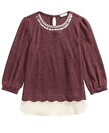 Big Girls Embellished Layered-Look Top